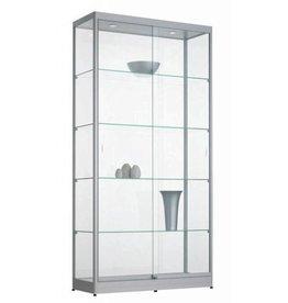 Glazen Vitrinekast H200 x B100 x D40 cm