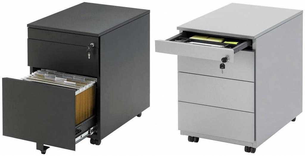 Verrijdbaar ladeblok r serie osby kantoormeubelen for Ladeblok onder bureau