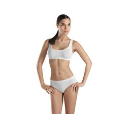 Touch Feeling Ladies Crop Top White