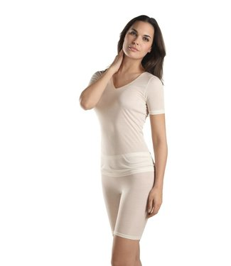 Pure Silk Shirt Korte Mouw