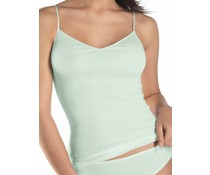 Cotton Seamless Spaghetti Top Aquarell Green