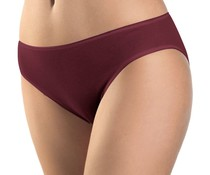 Cotton Seamless Midi Brief Red Plum