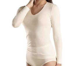 Woolen Silk Long Sleeve V-Neck (071418)