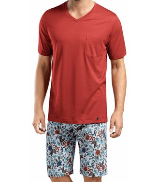 Evan Short Sleeve Pyjama Set Flower Aquarell
