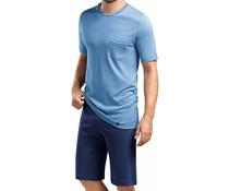 Owen Short Sleeve Pyjama Set Middle Blue (NIEUW)