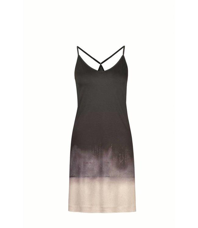 Amelie Spaghetti Dress Grey Gradient