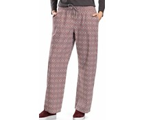 Sleep & Lounge Long Woven Pant Graphic Flowers Print (NIEUW)