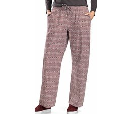 Sleep & Lounge Long Woven Pant Graphic Flowers Print (077881)