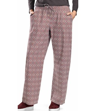 Sleep & Lounge Long Woven Pant Graphic Flowers Print