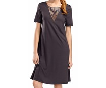 Violetta Dress Short Sleeve Carbon (NIEUW)