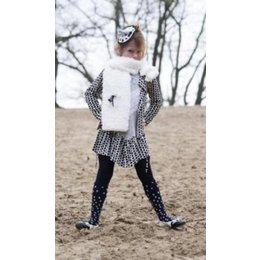 Bonnie Doon maillot navy met witte stippen