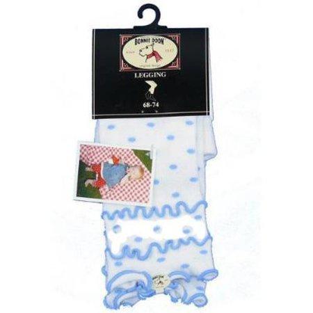 Bonnie Doon legging wit met zachtblauwe stippen