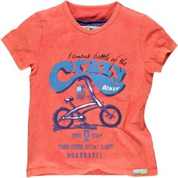 Moodstreet shirt Crazy Bike faded coral