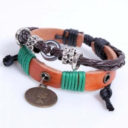 Dames Armband Ibiza Leather Natural