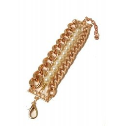 ToyToy CHUNK armband gold and pearls