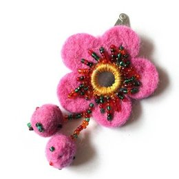 Cute Factory Fairtrade haarknipje roze