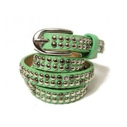Dames Riem studs en strass lightgreen
