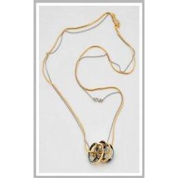 Jozemiek ketting zilver en goud