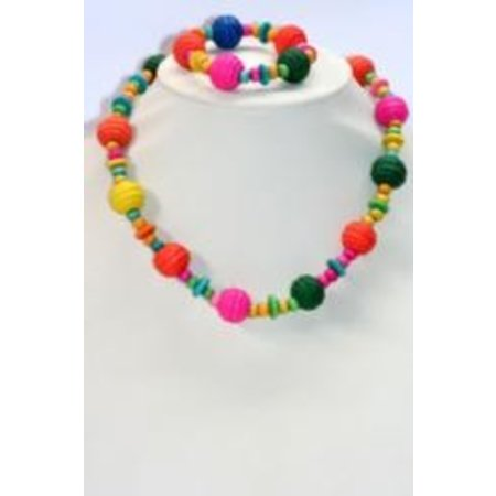 ToyToy Kinderketting + armband  bolletjes