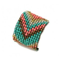 LOVE IBIZA armband Colourful beads blue