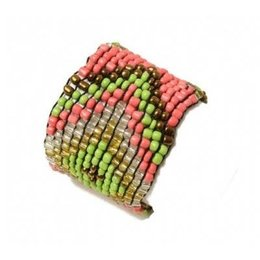LOVE IBIZA armband colourful beads lime