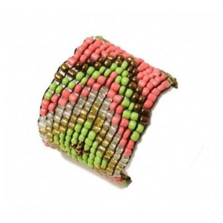 LOVE IBIZA armband colourful beads lime