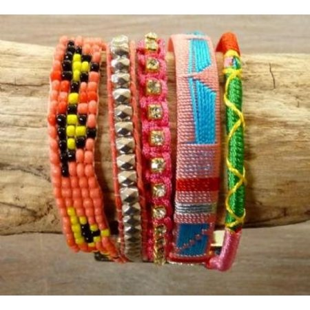 LOVE IBIZA armband Happiness Pink
