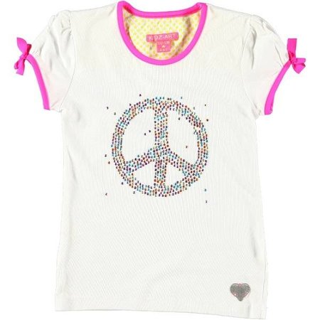 Kidz-Art shirt metallic studs peace white
