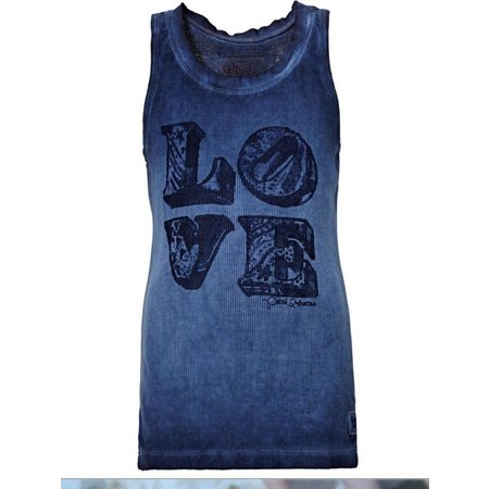 Petrol Industries Girls tie dye top Love denimblue