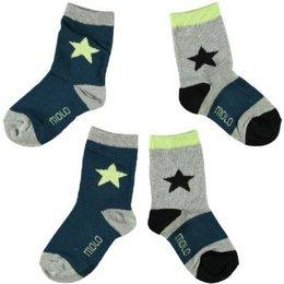Molo twee paar sokken Nitis Petrol Feldgrau