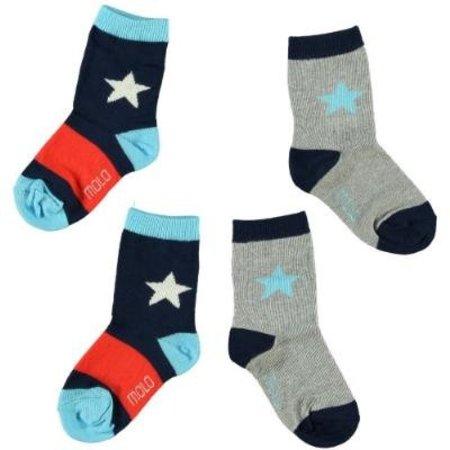 Molo MOLO twee paar sokken Nitis Indigo navy