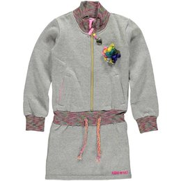 Kidz-Art sweat jurkje grey glitter