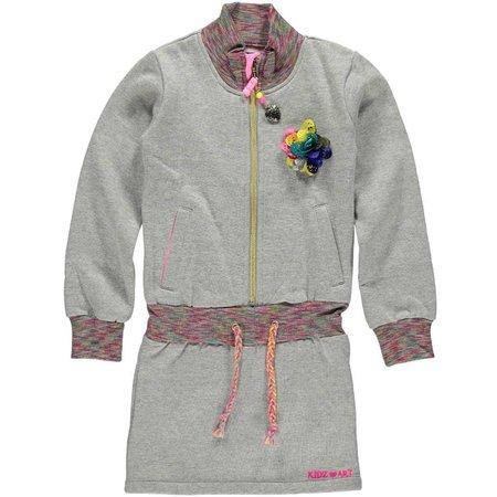 Kidz-Art sweat jurkje grey glitter