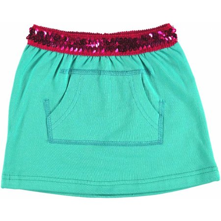 Kidz-Art rokje sea green pailletten