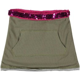 Kidz-Art rokje army green pailletten