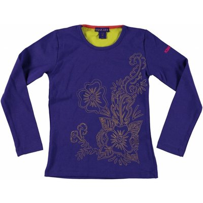 Kidz-Art longsleeve purple blue gold print