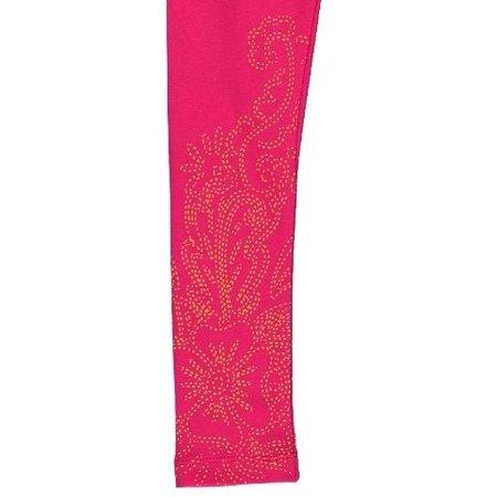 Kidz-Art legging fuchsia gold print