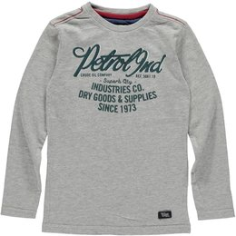 Petrol Industries supersoft longsleeve grey green flockprint