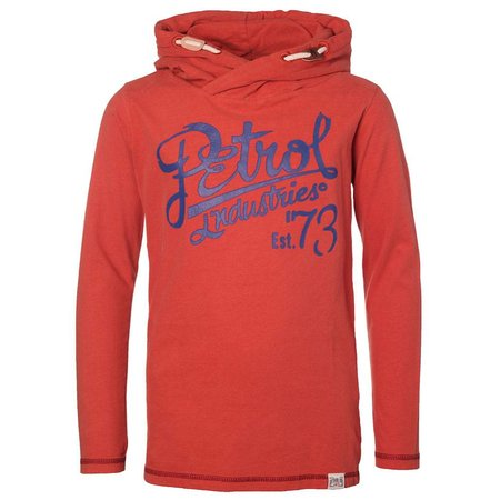 Petrol Industries dunne hooded sweater brique rood