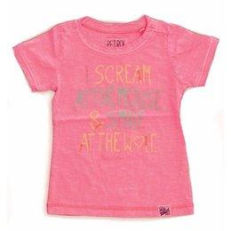Petrol Industries girls shirt fluo pink
