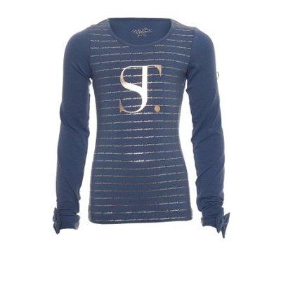 SuperTrash logo shirt Tally blue