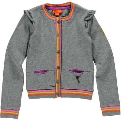 Kidz-Art stretch vestje grey melee