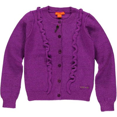 Kidz-Art vestje bright purple knitted