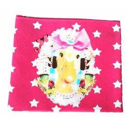 De Kunstboer etui /make-up bag Ducky Pink