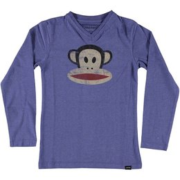 Paul Frank V-longsleeve washed jeansblue