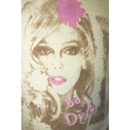 Be A Diva vlindershirt Gold