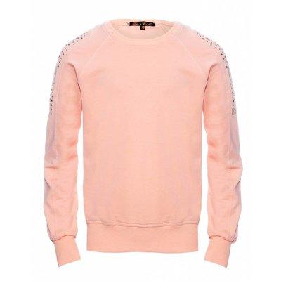 Be A Diva sweater Jade peach studs en strass