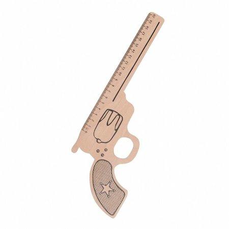 Rex London liniaal pistool van hout
