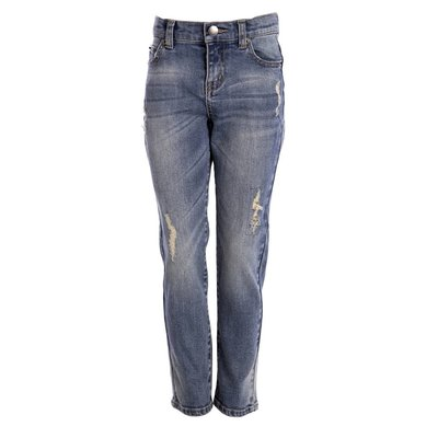 Little Pieces stoere stretch jeans  met gaten