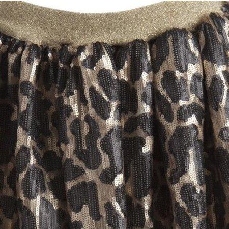 Little Pieces rokje pailletten luipaardprint